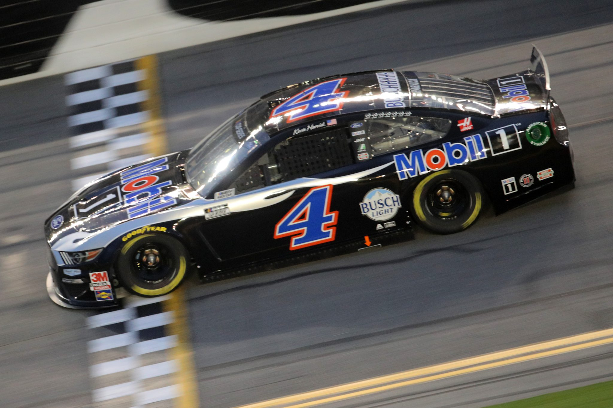 DAYTONA BEACH, FLORIDA - AUGUST 29: Kevin Harvick, driver of the #4 Mobil 1 Ford, drives during the NASCAR Cup Series Coke Zero Sugar 400 at Daytona International Speedway on August 29, 2020 in Daytona Beach, Florida. (Photo by Chris Graythen/Getty Images) | Getty Images