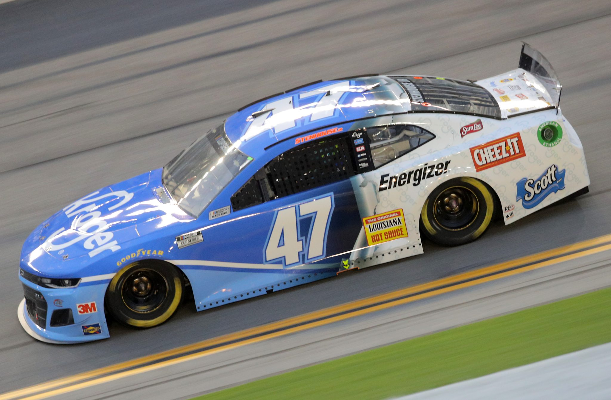 DAYTONA BEACH, FLORIDA - AUGUST 29: Ricky Stenhouse Jr., driver of the #47 Kroger Chevrolet, drives during the NASCAR Cup Series Coke Zero Sugar 400 at Daytona International Speedway on August 29, 2020 in Daytona Beach, Florida. (Photo by Chris Graythen/Getty Images) | Getty Images