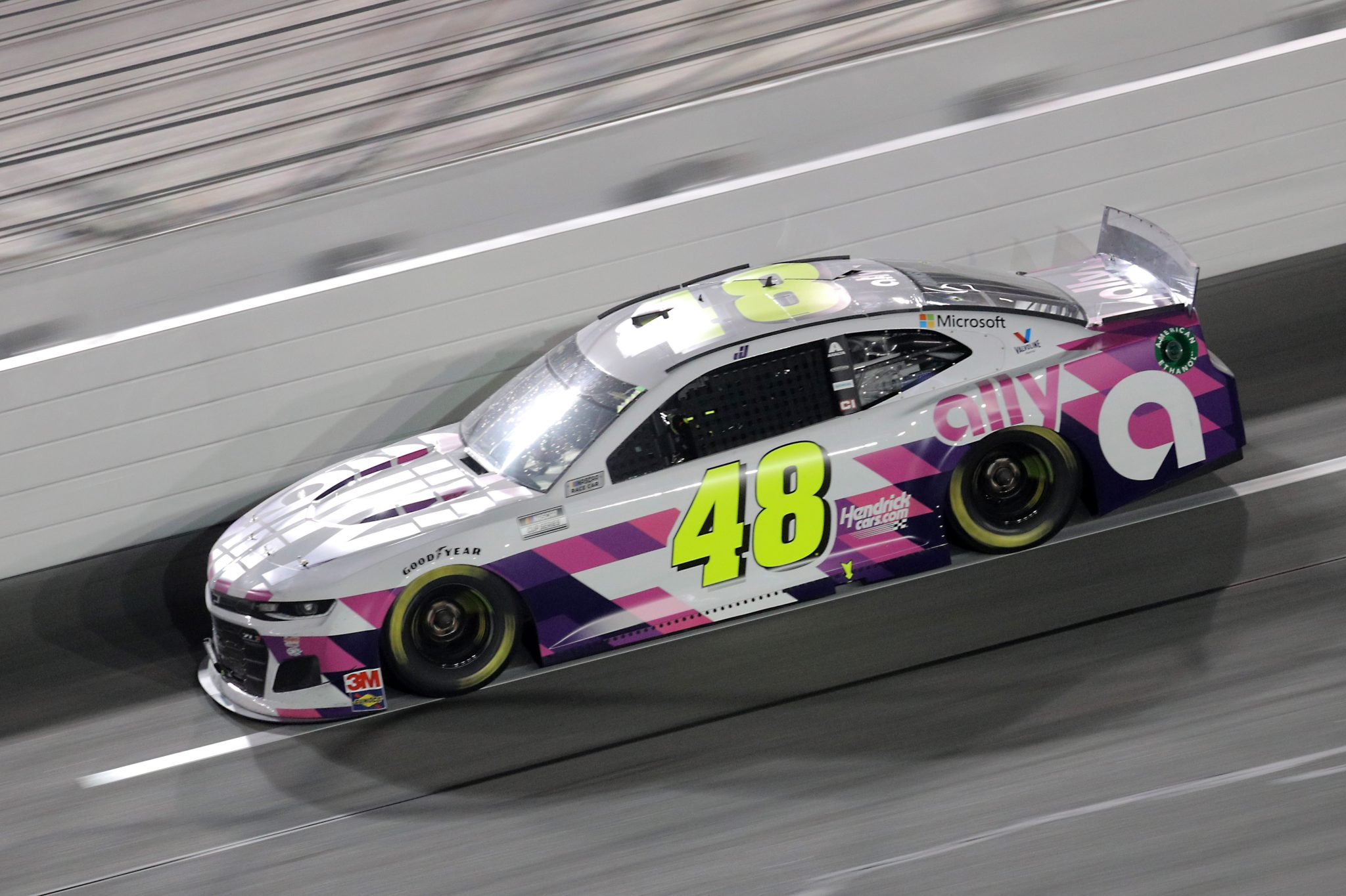 DAYTONA BEACH, FLORIDA - AUGUST 29: Jimmie Johnson, driver of the #48 Ally Chevrolet, races during the NASCAR Cup Series Coke Zero Sugar 400 at Daytona International Speedway on August 29, 2020 in Daytona Beach, Florida. (Photo by Chris Graythen/Getty Images) | Getty Images