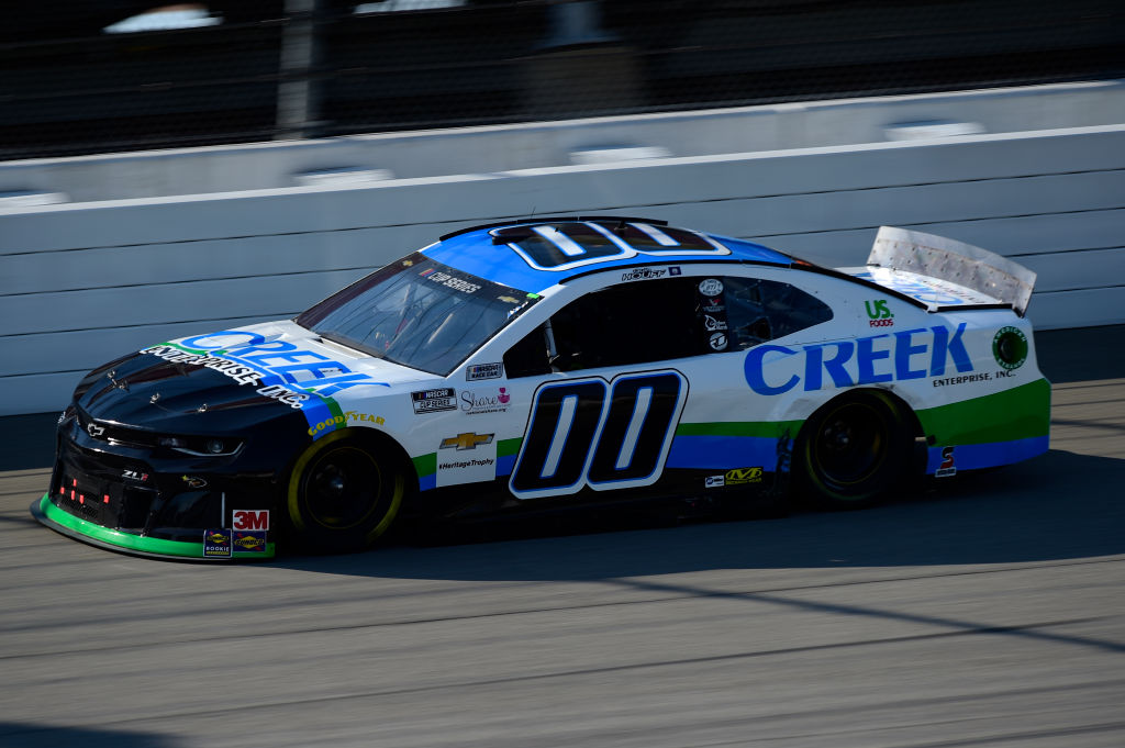 BROOKLYN, MICHIGAN - AUGUST 08: Quin Houff, driver of the #00 CREEK Enterprises Inc. Chevrolet, drives during the NASCAR Cup Series FireKeepers Casino 400 at Michigan at Michigan International Speedway on August 08, 2020 in Brooklyn, Michigan. (Photo by Jared C. Tilton/Getty Images) | Getty Images