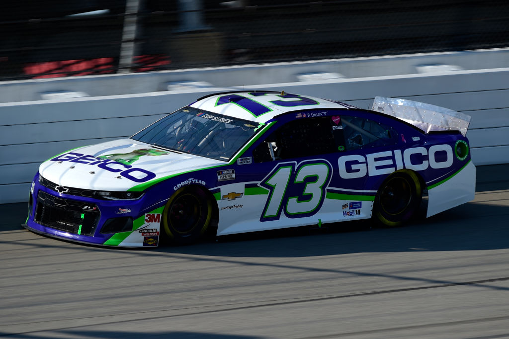 BROOKLYN, MICHIGAN - AUGUST 08: Ty Dillon, driver of the #13 GEICO Chevrolet, drives during the NASCAR Cup Series FireKeepers Casino 400 at Michigan at Michigan International Speedway on August 08, 2020 in Brooklyn, Michigan. (Photo by Jared C. Tilton/Getty Images) | Getty Images
