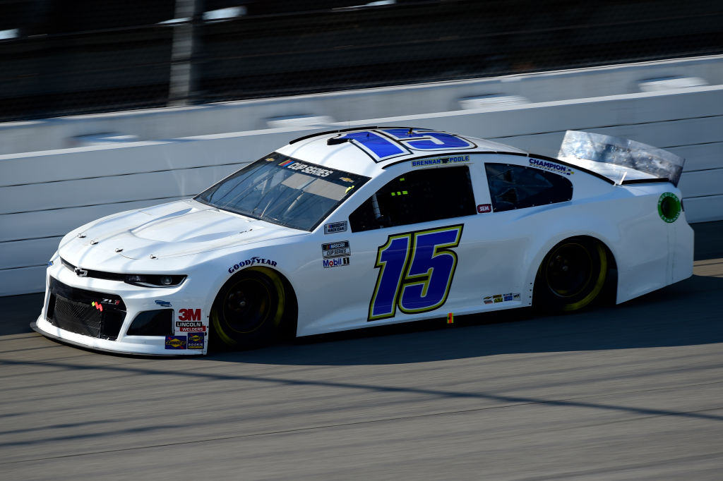 BROOKLYN, MICHIGAN - AUGUST 08: Brennan Poole, driver of the #15 Premium Motorsports Chevrolet, drives during the NASCAR Cup Series FireKeepers Casino 400 at Michigan at Michigan International Speedway on August 08, 2020 in Brooklyn, Michigan. (Photo by Jared C. Tilton/Getty Images) | Getty Images