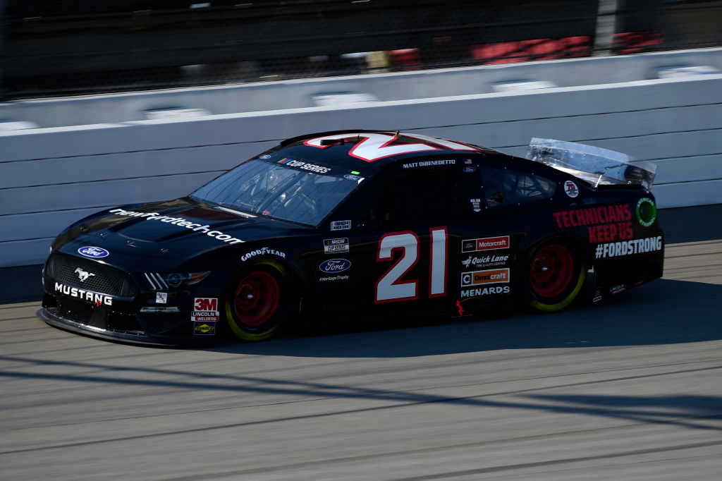 BROOKLYN, MICHIGAN - AUGUST 08: Matt DiBenedetto, driver of the #21 FordStrong Technicians Ford, drives during the NASCAR Cup Series FireKeepers Casino 400 at Michigan at Michigan International Speedway on August 08, 2020 in Brooklyn, Michigan. (Photo by Jared C. Tilton/Getty Images) | Getty Images