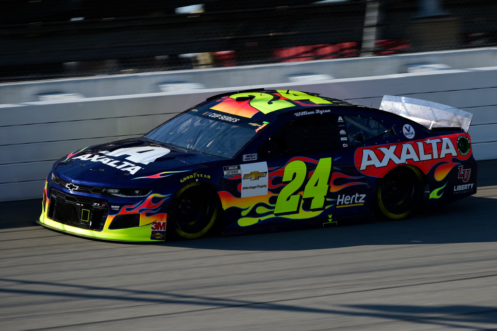 BROOKLYN, MICHIGAN - AUGUST 08: William Byron, driver of the #24 Axalta Chevrolet, drives during the NASCAR Cup Series FireKeepers Casino 400 at Michigan at Michigan International Speedway on August 08, 2020 in Brooklyn, Michigan. (Photo by Jared C. Tilton/Getty Images) | Getty Images