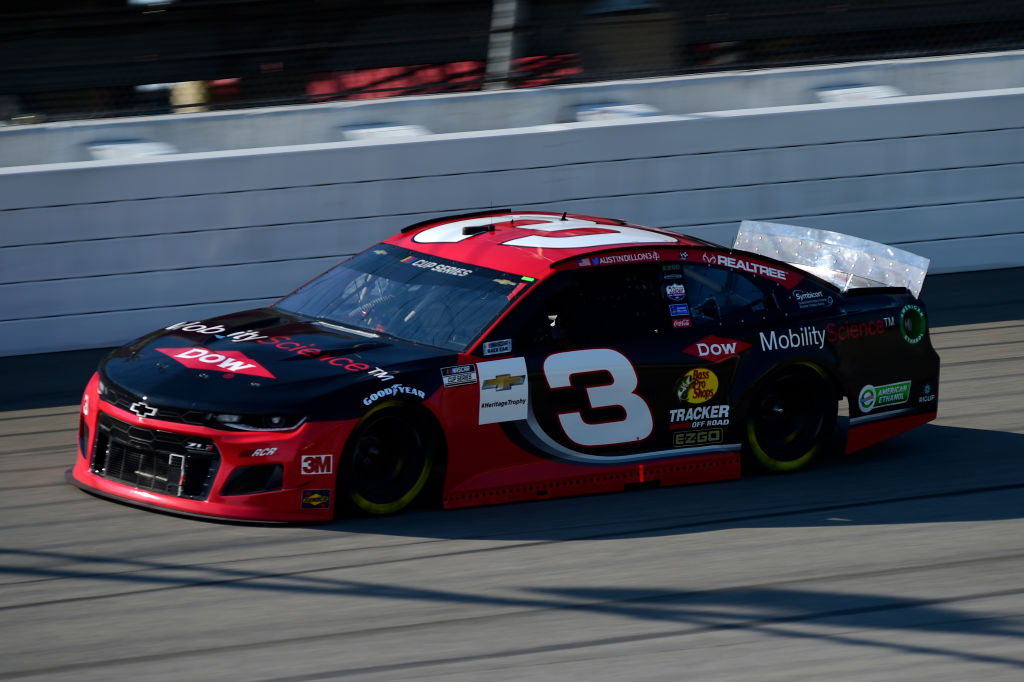 BROOKLYN, MICHIGAN - AUGUST 08: Austin Dillon, driver of the #3 Dow Mobility Service Chevrolet, drives during the NASCAR Cup Series FireKeepers Casino 400 at Michigan at Michigan International Speedway on August 08, 2020 in Brooklyn, Michigan. (Photo by Jared C. Tilton/Getty Images) | Getty Images