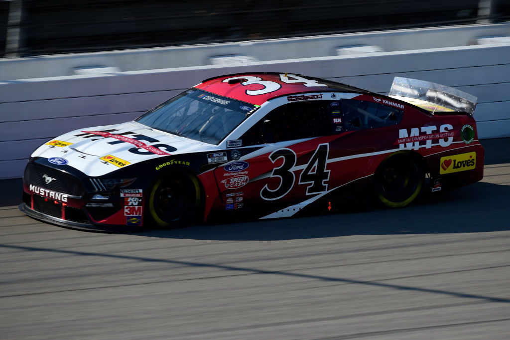 BROOKLYN, MICHIGAN - AUGUST 08: Michael McDowell, driver of the #34 Martin Transportation Systems Ford, drives during the NASCAR Cup Series FireKeepers Casino 400 at Michigan at Michigan International Speedway on August 08, 2020 in Brooklyn, Michigan. (Photo by Jared C. Tilton/Getty Images) | Getty Images