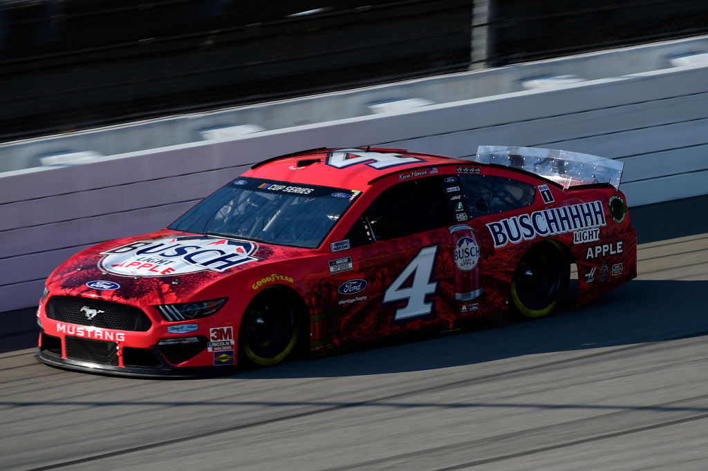 BROOKLYN, MICHIGAN - AUGUST 08: Kevin Harvick, driver of the #4 Busch Light Apple Ford, drives during the NASCAR Cup Series FireKeepers Casino 400 at Michigan at Michigan International Speedway on August 08, 2020 in Brooklyn, Michigan. (Photo by Jared C. Tilton/Getty Images) | Getty Images