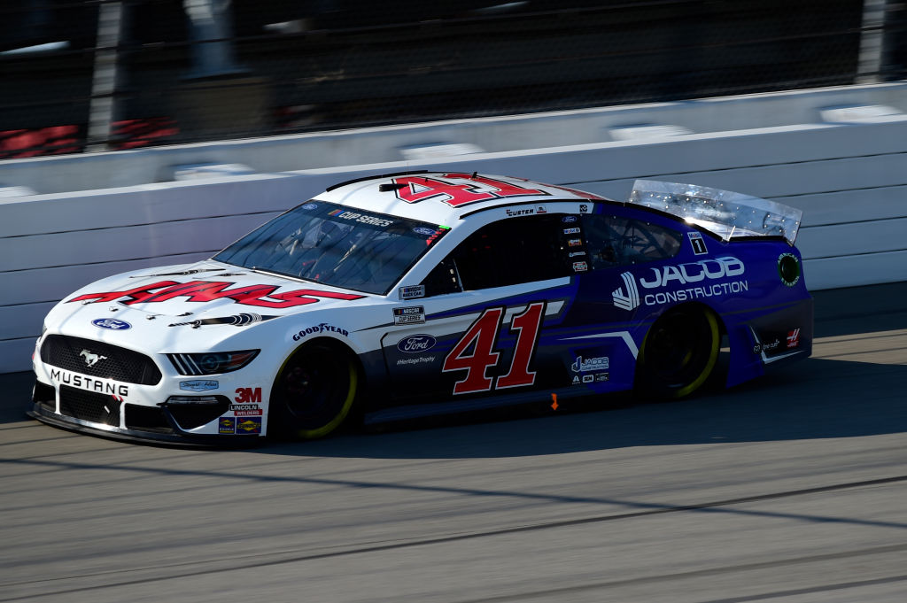 BROOKLYN, MICHIGAN - AUGUST 08: Cole Custer, driver of the #41 HaasTooling.com/Jacob Co. Ford, drives during the NASCAR Cup Series FireKeepers Casino 400 at Michigan at Michigan International Speedway on August 08, 2020 in Brooklyn, Michigan. (Photo by Jared C. Tilton/Getty Images) | Getty Images