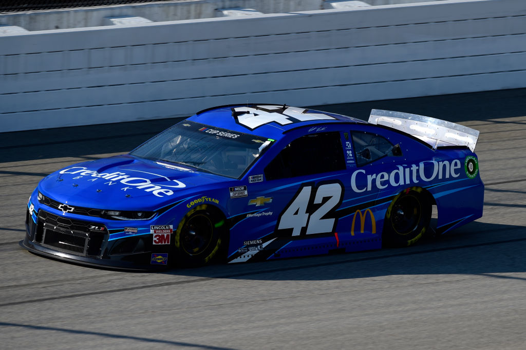 BROOKLYN, MICHIGAN - AUGUST 08: Matt Kenseth, driver of the #42 Credit One Bank Chevrolet, drives during the NASCAR Cup Series FireKeepers Casino 400 at Michigan at Michigan International Speedway on August 08, 2020 in Brooklyn, Michigan. (Photo by Jared C. Tilton/Getty Images) | Getty Images