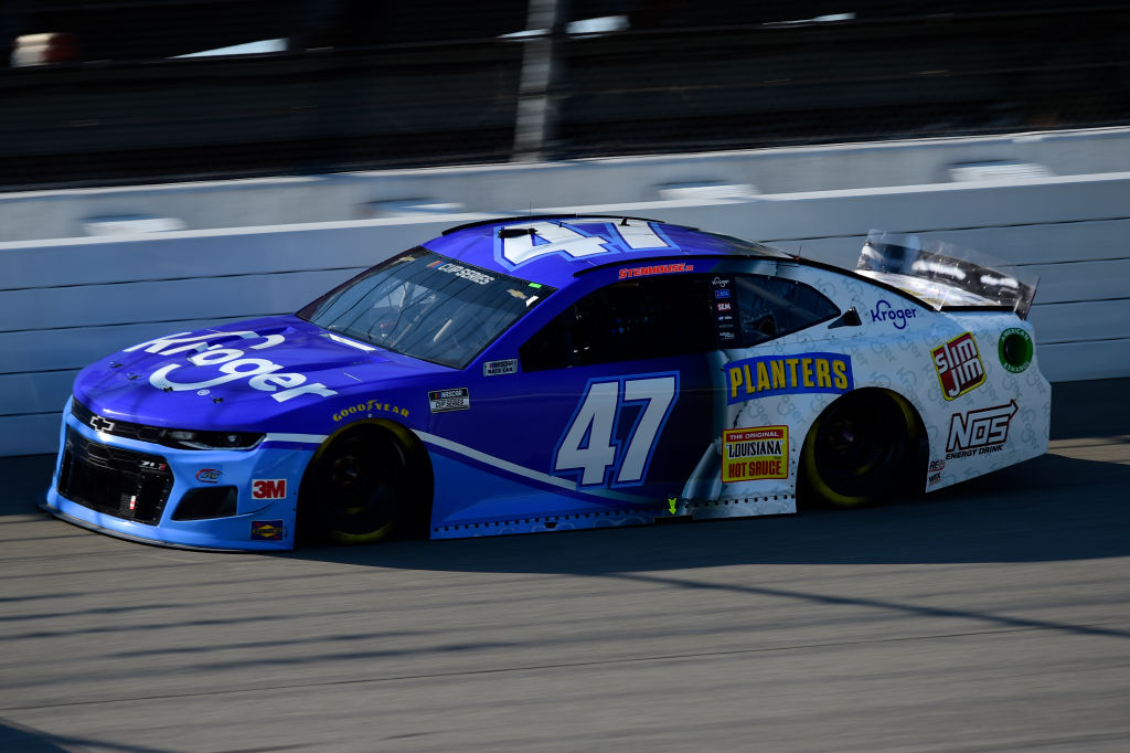 BROOKLYN, MICHIGAN - AUGUST 08: Ricky Stenhouse Jr., driver of the #47 Kroger Chevrolet, drives during the NASCAR Cup Series FireKeepers Casino 400 at Michigan at Michigan International Speedway on August 08, 2020 in Brooklyn, Michigan. (Photo by Jared C. Tilton/Getty Images) | Getty Images