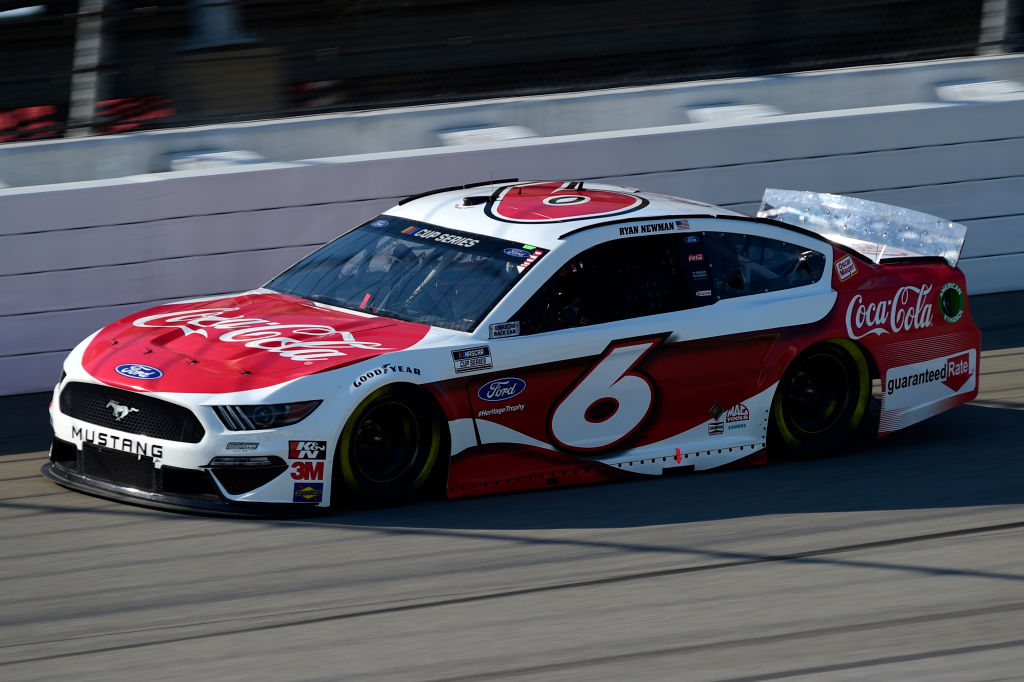BROOKLYN, MICHIGAN - AUGUST 08: Ryan Newman, driver of the #6 Coca-Cola Ford, drives during the NASCAR Cup Series FireKeepers Casino 400 at Michigan at Michigan International Speedway on August 08, 2020 in Brooklyn, Michigan. (Photo by Jared C. Tilton/Getty Images) | Getty Images
