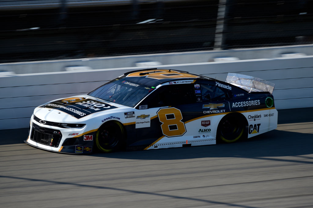BROOKLYN, MICHIGAN - AUGUST 08: Tyler Reddick, driver of the #8 Richard Childress Racing Chevrolet, drives during the NASCAR Cup Series FireKeepers Casino 400 at Michigan at Michigan International Speedway on August 08, 2020 in Brooklyn, Michigan. (Photo by Jared C. Tilton/Getty Images) | Getty Images