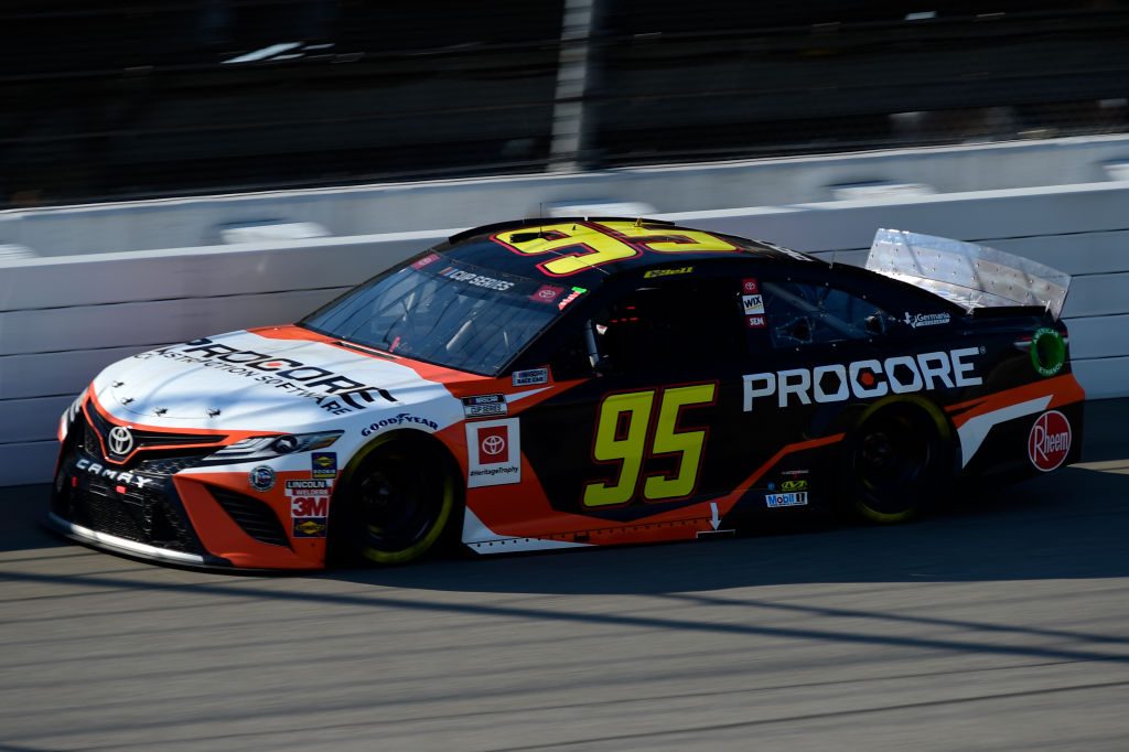BROOKLYN, MICHIGAN - AUGUST 08: Christopher Bell, driver of the #95 Procore Toyota, drives during the NASCAR Cup Series FireKeepers Casino 400 at Michigan at Michigan International Speedway on August 08, 2020 in Brooklyn, Michigan. (Photo by Jared C. Tilton/Getty Images) | Getty Images