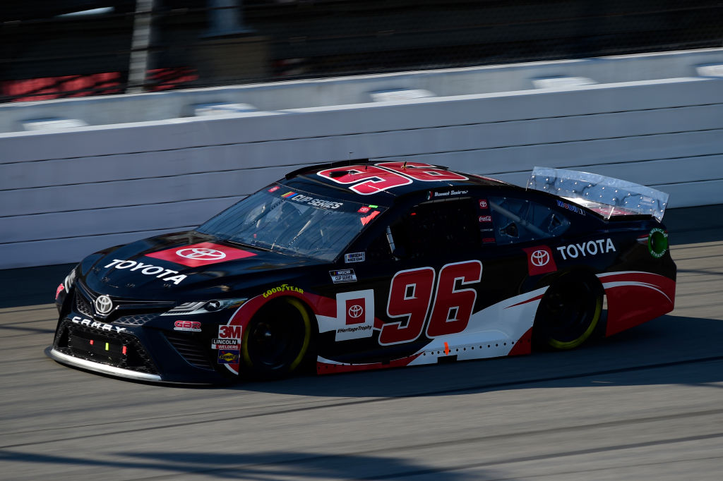 BROOKLYN, MICHIGAN - AUGUST 08: Daniel Suarez, driver of the #96 Toyota Toyota, drives during the NASCAR Cup Series FireKeepers Casino 400 at Michigan at Michigan International Speedway on August 08, 2020 in Brooklyn, Michigan. (Photo by Jared C. Tilton/Getty Images) | Getty Images