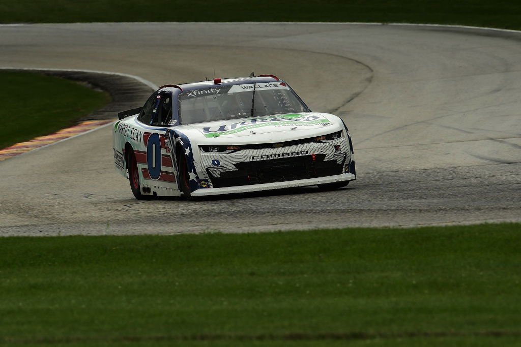 ELKHART LAKE, WISCONSIN - AUGUST 08: Mike Wallace, driver of the #0 Unkers Therapeutic/Market Scan Chevrolet, races during the NASCAR Xfinity Series Henry 180 at Road America on August 08, 2020 in Elkhart Lake, Wisconsin. (Photo by Stacy Revere/Getty Images) | Getty Images