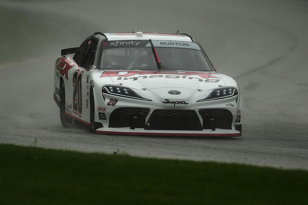 ELKHART LAKE, WISCONSIN - AUGUST 08: Harrison Burton, driver of the #20 Dex Imaging Toyota, races during the NASCAR Xfinity Series Henry 180 at Road America on August 08, 2020 in Elkhart Lake, Wisconsin. (Photo by Stacy Revere/Getty Images) | Getty Images