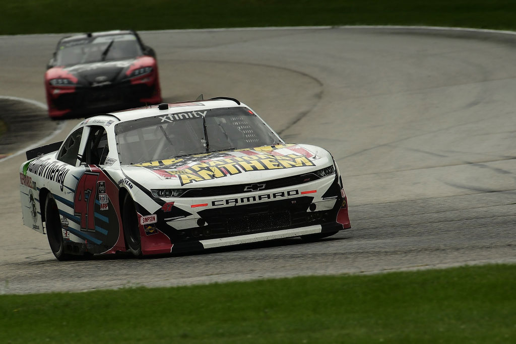 ELKHART LAKE, WISCONSIN - AUGUST 08: Kyle Weatherman, driver of the #47 Stand For The Flag Chevrolet, races during the NASCAR Xfinity Series Henry 180 at Road America on August 08, 2020 in Elkhart Lake, Wisconsin. (Photo by Stacy Revere/Getty Images) | Getty Images