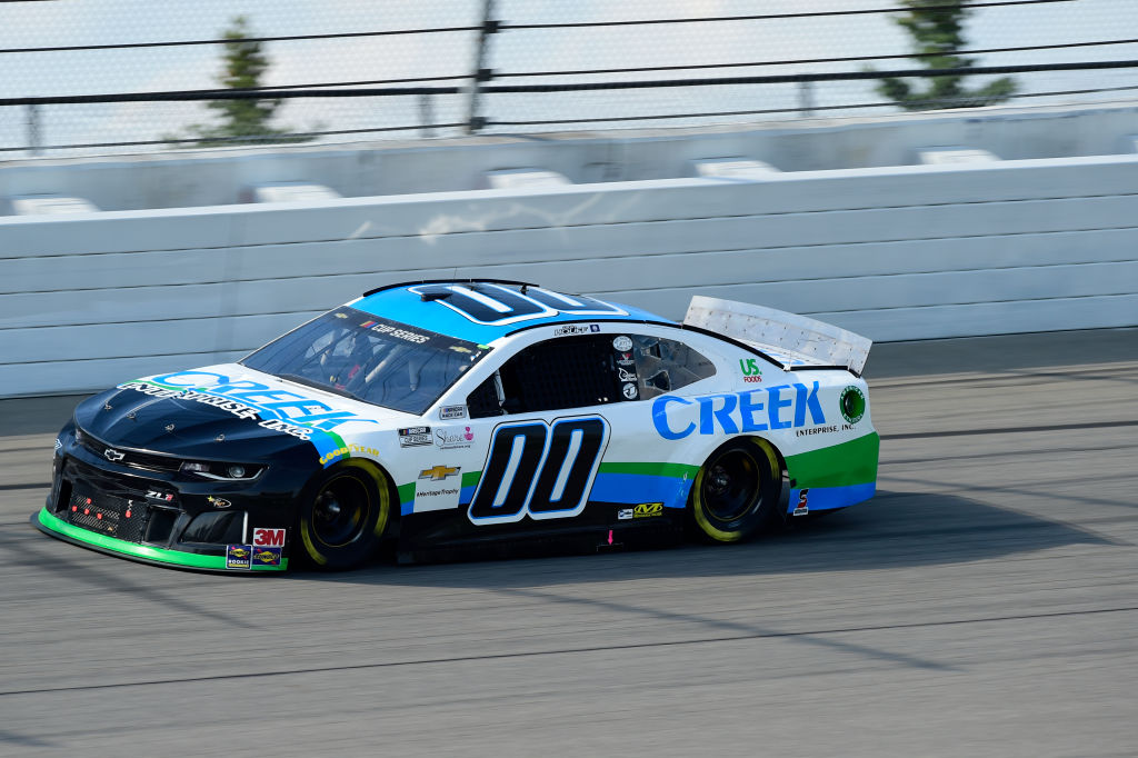 BROOKLYN, MICHIGAN - AUGUST 09: Quin Houff, driver of the #00 CREEK Enterprises Inc. Chevrolet, drives during the NASCAR Cup Series Consumers Energy 400 at Michigan at Michigan International Speedway on August 09, 2020 in Brooklyn, Michigan. (Photo by Jared C. Tilton/Getty Images) | Getty Images
