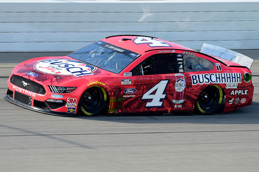 BROOKLYN, MICHIGAN - AUGUST 09: Kevin Harvick, driver of the #4 Busch Light Apple Ford, drives during the NASCAR Cup Series Consumers Energy 400 at Michigan at Michigan International Speedway on August 09, 2020 in Brooklyn, Michigan. (Photo by Jared C. Tilton/Getty Images) | Getty Images