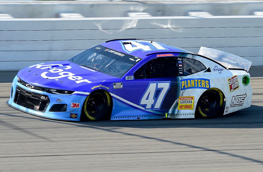 BROOKLYN, MICHIGAN - AUGUST 09: Ricky Stenhouse Jr., driver of the #47 Kroger Chevrolet, drives during the NASCAR Cup Series Consumers Energy 400 at Michigan at Michigan International Speedway on August 09, 2020 in Brooklyn, Michigan. (Photo by Jared C. Tilton/Getty Images) | Getty Images