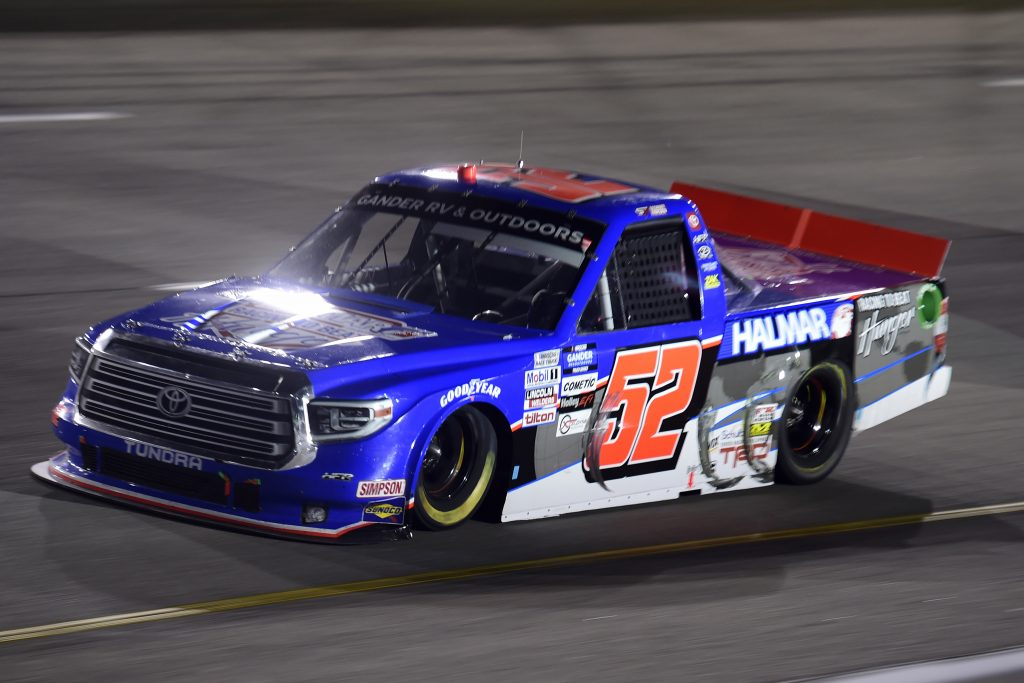 RICHMOND, VIRGINIA - SEPTEMBER 10: Stewart Friesen, driver of the #52 Halmar Racing To Beat Hunger Toyota, drives during the NASCAR Gander Outdoors Truck Series ToyotaCare 250 at Richmond Raceway on September 10, 2020 in Richmond, Virginia. (Photo by Jared C. Tilton/Getty Images) | Getty Images