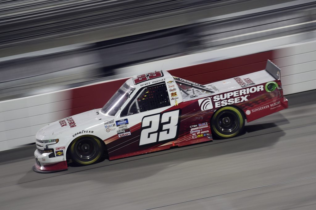 RICHMOND, VIRGINIA - SEPTEMBER 10: Brett Moffitt, driver of the #23 Superior Essex Chevrolet, drives during the NASCAR Gander Outdoors Truck Series ToyotaCare 250 at Richmond Raceway on September 10, 2020 in Richmond, Virginia. (Photo by Jared C. Tilton/Getty Images) | Getty Images