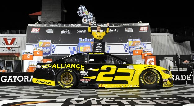 RICHMOND, VIRGINIA - SEPTEMBER 12: Brad Keselowski, driver of the #2 Western Star/Alliance Parts Ford, celebrates in Victory Lane after winning the NASCAR Cup Series Federated Auto Parts 400 at Richmond Raceway on September 12, 2020 in Richmond, Virginia. (Photo by Jared C. Tilton/Getty Images)   Getty Images