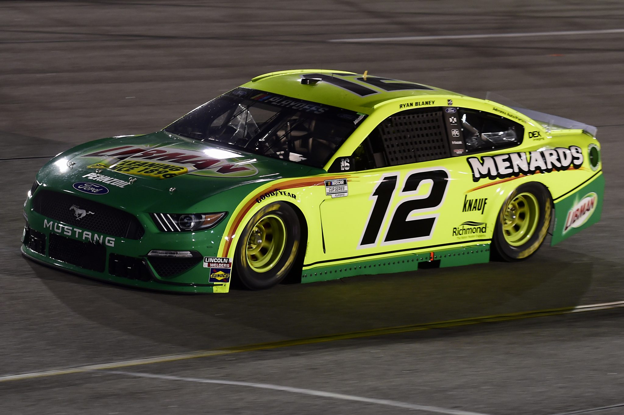 RICHMOND, VIRGINIA - SEPTEMBER 12: Ryan Blaney, driver of the #12 Menards/Libman Ford, drives during the NASCAR Cup Series Federated Auto Parts 400 at Richmond Raceway on September 12, 2020 in Richmond, Virginia. (Photo by Jared C. Tilton/Getty Images) | Getty Images