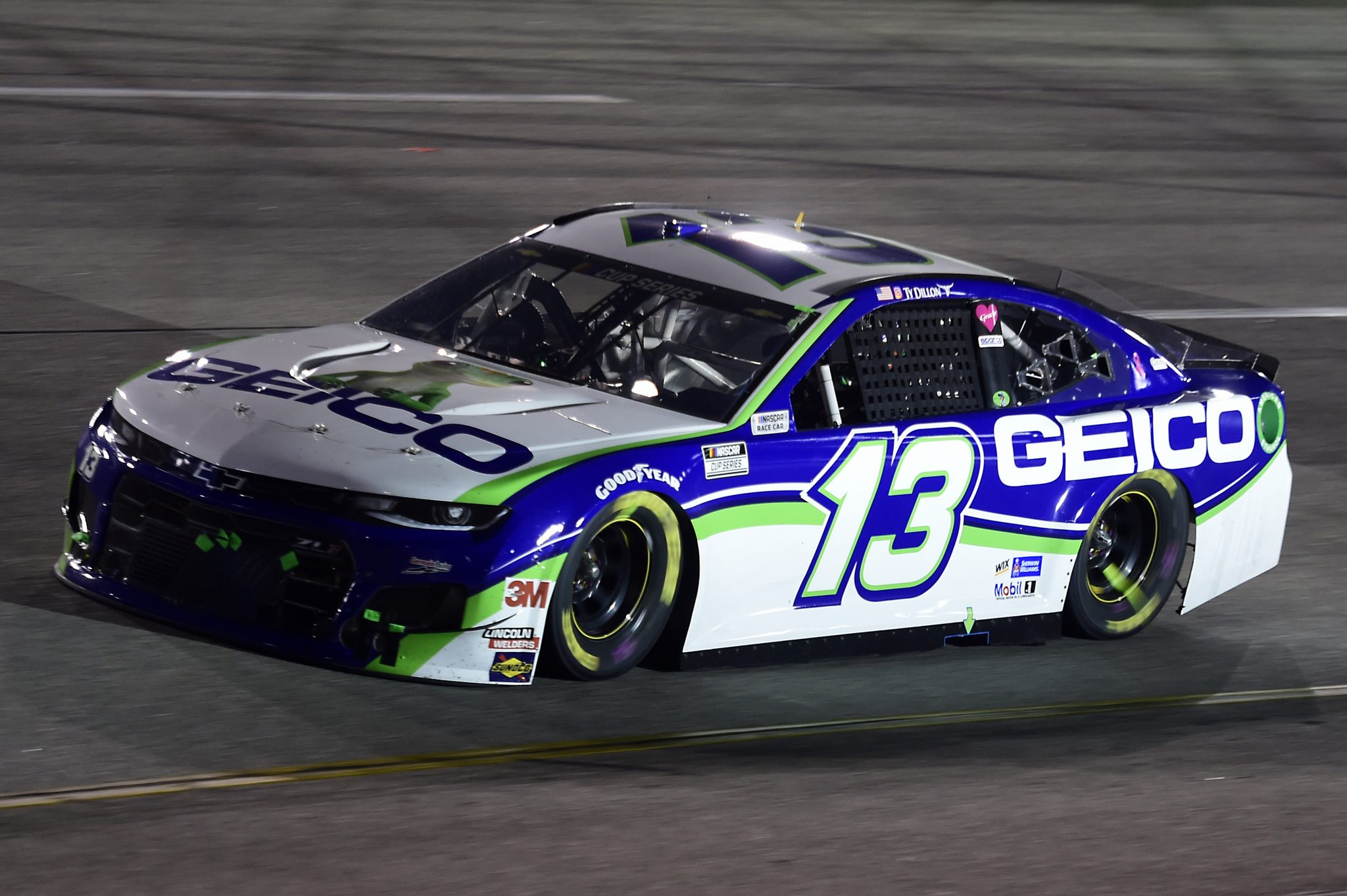RICHMOND, VIRGINIA - SEPTEMBER 12: Ty Dillon, driver of the #13 GEICO Chevrolet, drives during the NASCAR Cup Series Federated Auto Parts 400 at Richmond Raceway on September 12, 2020 in Richmond, Virginia. (Photo by Jared C. Tilton/Getty Images) | Getty Images