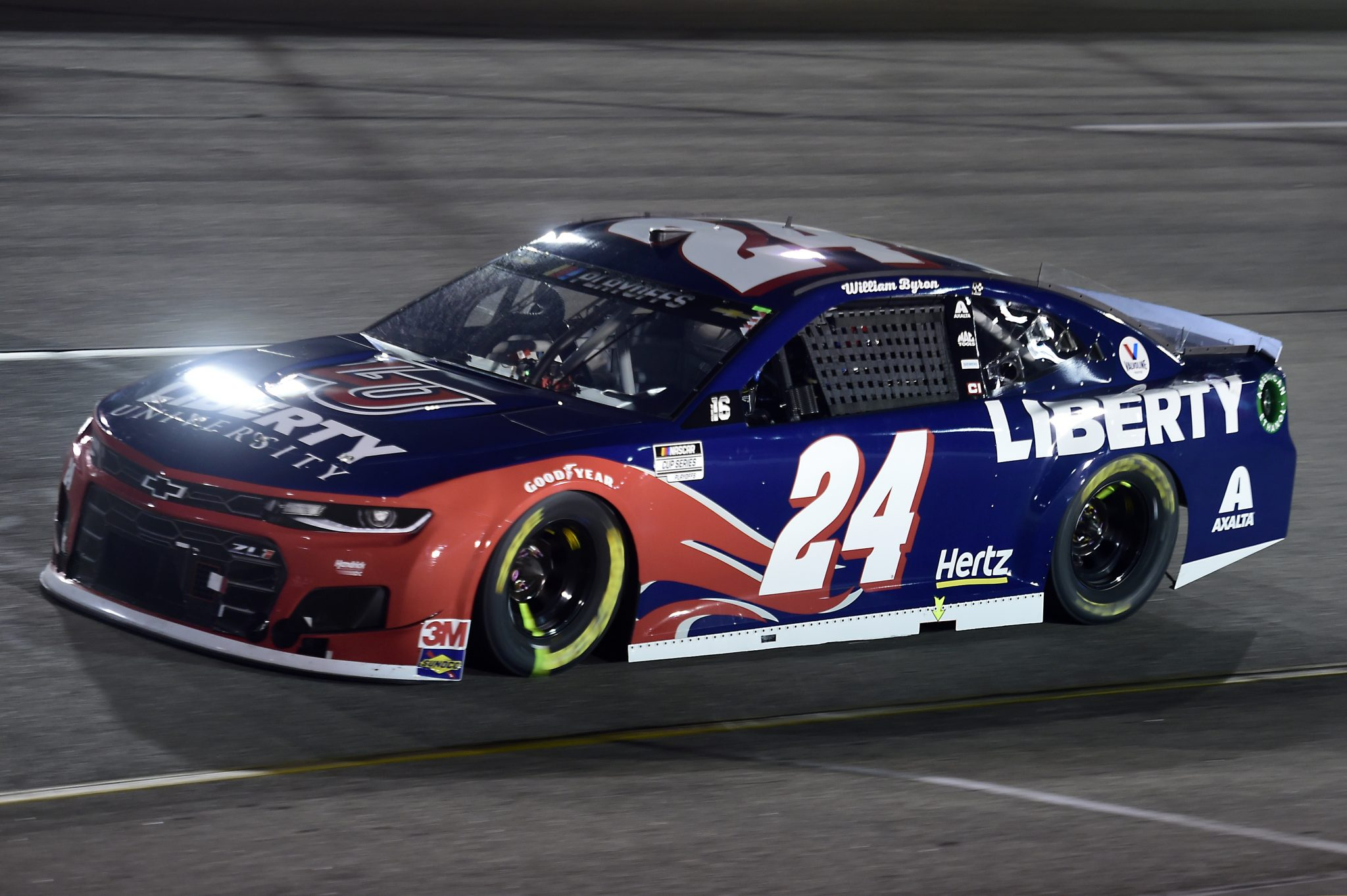 RICHMOND, VIRGINIA - SEPTEMBER 12: William Byron, driver of the #24 Liberty University Chevrolet, drives during the NASCAR Cup Series Federated Auto Parts 400 at Richmond Raceway on September 12, 2020 in Richmond, Virginia. (Photo by Jared C. Tilton/Getty Images) | Getty Images