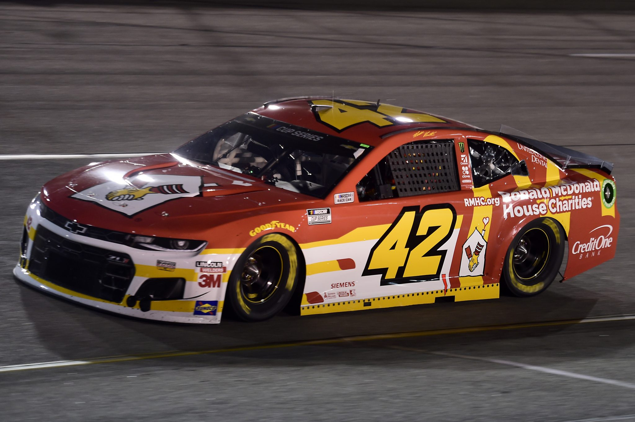 RICHMOND, VIRGINIA - SEPTEMBER 12: Matt Kenseth, driver of the #42 McDonald's Chevrolet, drives during the NASCAR Cup Series Federated Auto Parts 400 at Richmond Raceway on September 12, 2020 in Richmond, Virginia. (Photo by Jared C. Tilton/Getty Images) | Getty Images