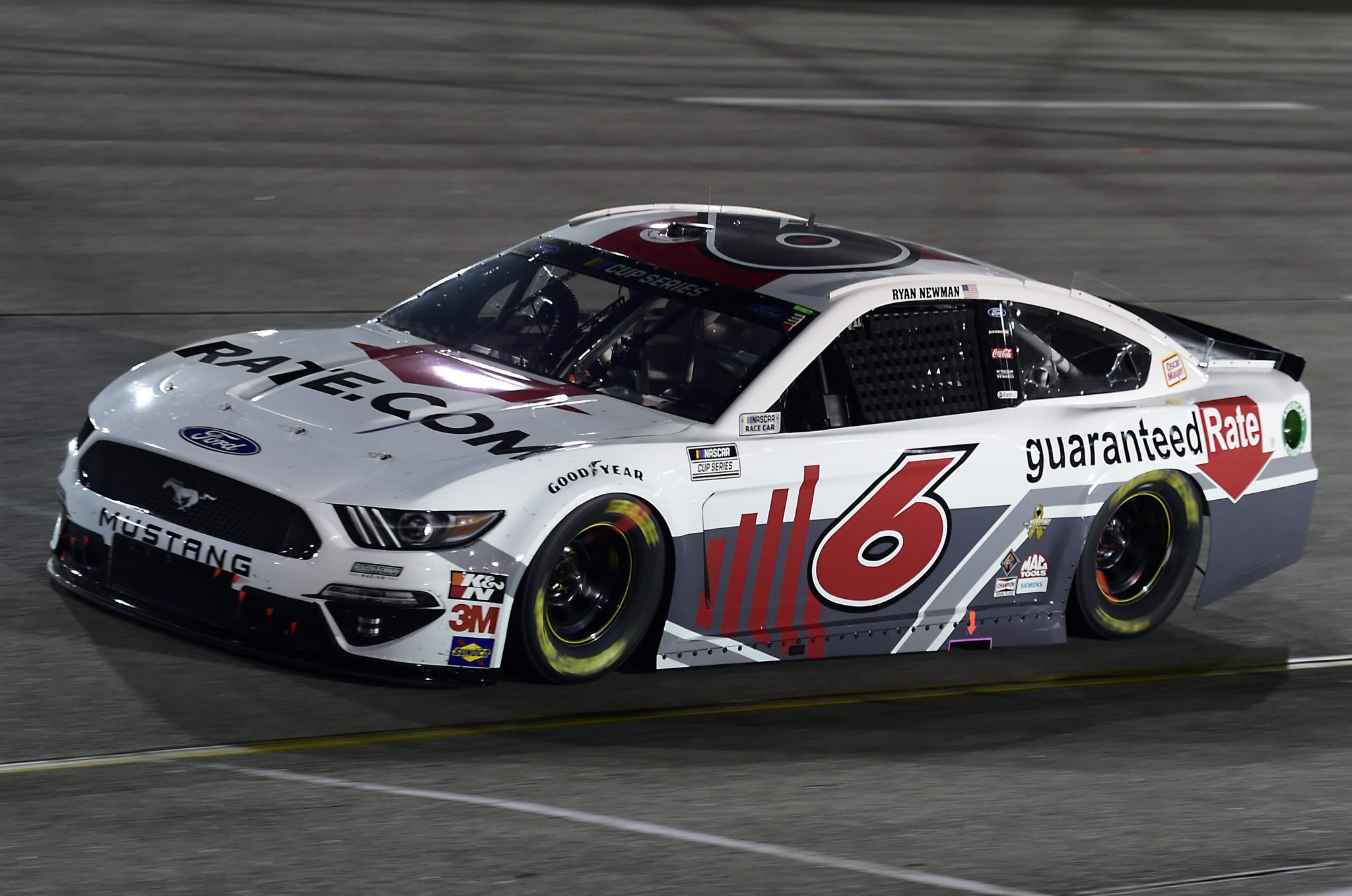 RICHMOND, VIRGINIA - SEPTEMBER 12: Ryan Newman, driver of the #6 Guaranteed Rate Ford, drives during the NASCAR Cup Series Federated Auto Parts 400 at Richmond Raceway on September 12, 2020 in Richmond, Virginia. (Photo by Jared C. Tilton/Getty Images) | Getty Images