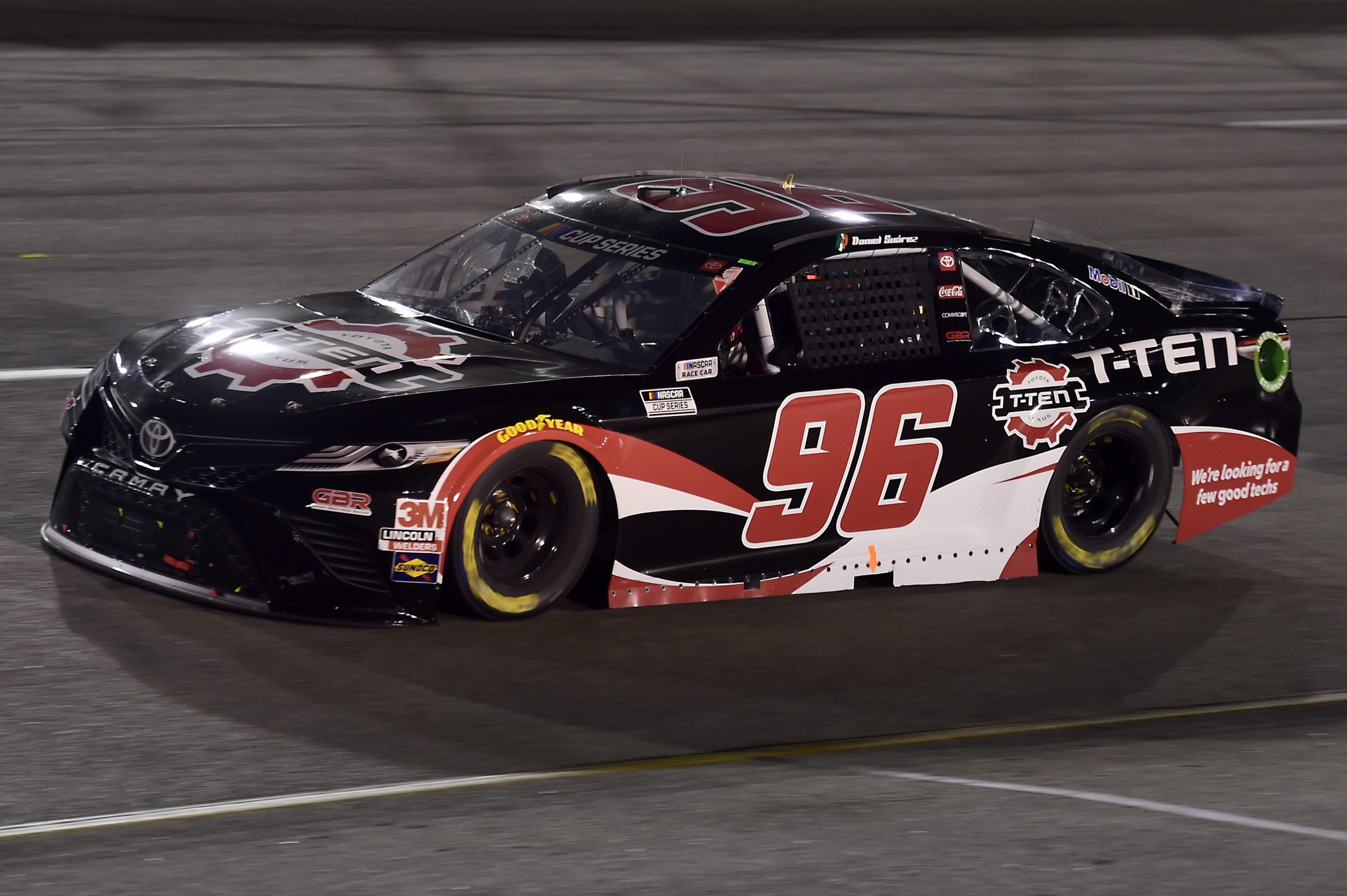 RICHMOND, VIRGINIA - SEPTEMBER 12: Daniel Suarez, driver of the #96 TOYOTA T-TEN Toyota, drives during the NASCAR Cup Series Federated Auto Parts 400 at Richmond Raceway on September 12, 2020 in Richmond, Virginia. (Photo by Jared C. Tilton/Getty Images) | Getty Images