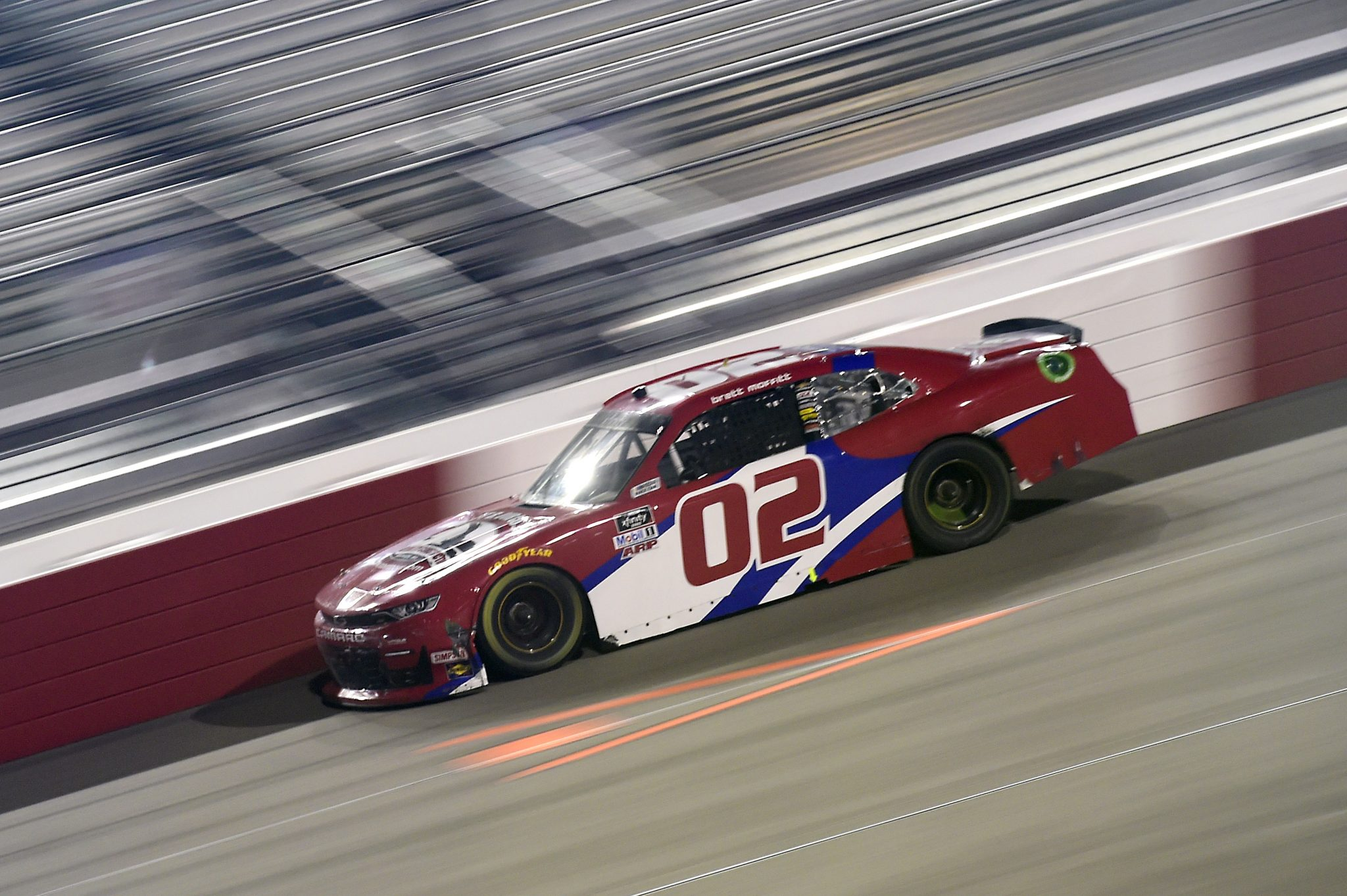 RICHMOND, VIRGINIA - SEPTEMBER 11: Brett Moffitt, driver of the #02 Robert B Our Inc Co Chevrolet, drives during the NASCAR Xfinity Series Go Bowling 250 at Richmond Raceway on September 11, 2020 in Richmond, Virginia. (Photo by Jared C. Tilton/Getty Images) | Getty Images