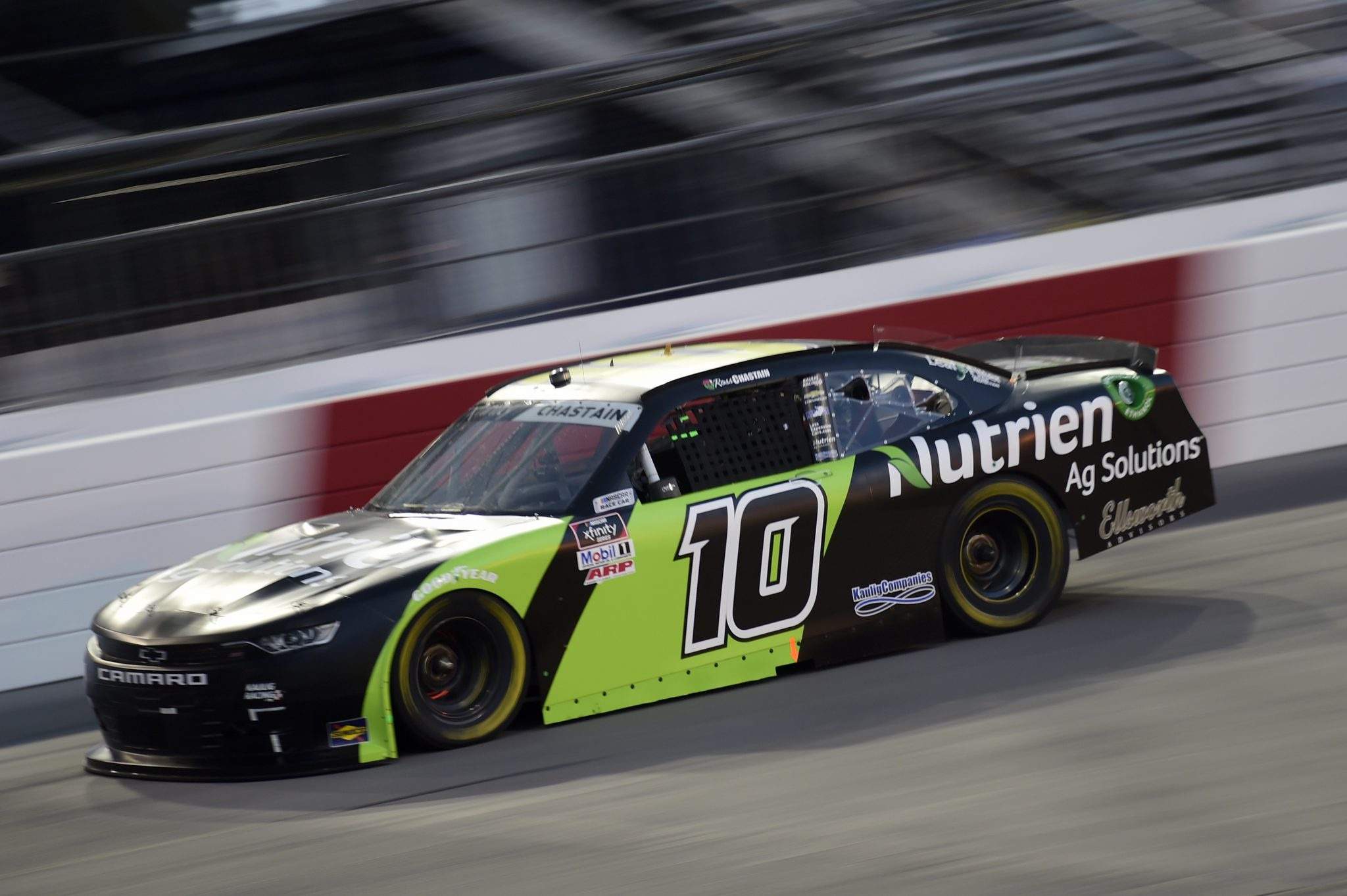 RICHMOND, VIRGINIA - SEPTEMBER 11: Ross Chastain, driver of the #10 Nutrien Ag Solutions Chevrolet, drives during the NASCAR Xfinity Series Go Bowling 250 at Richmond Raceway on September 11, 2020 in Richmond, Virginia. (Photo by Jared C. Tilton/Getty Images) | Getty Images