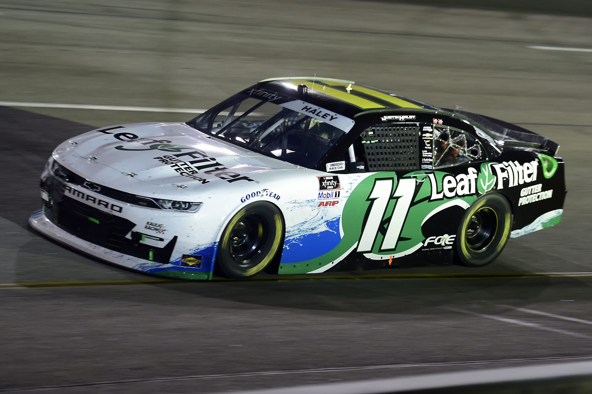 RICHMOND, VIRGINIA - SEPTEMBER 11: Justin Haley, driver of the #11 LeafFilter Gutter Protection Chevrolet, drives during the NASCAR Xfinity Series Go Bowling 250 at Richmond Raceway on September 11, 2020 in Richmond, Virginia. (Photo by Jared C. Tilton/Getty Images) | Getty Images