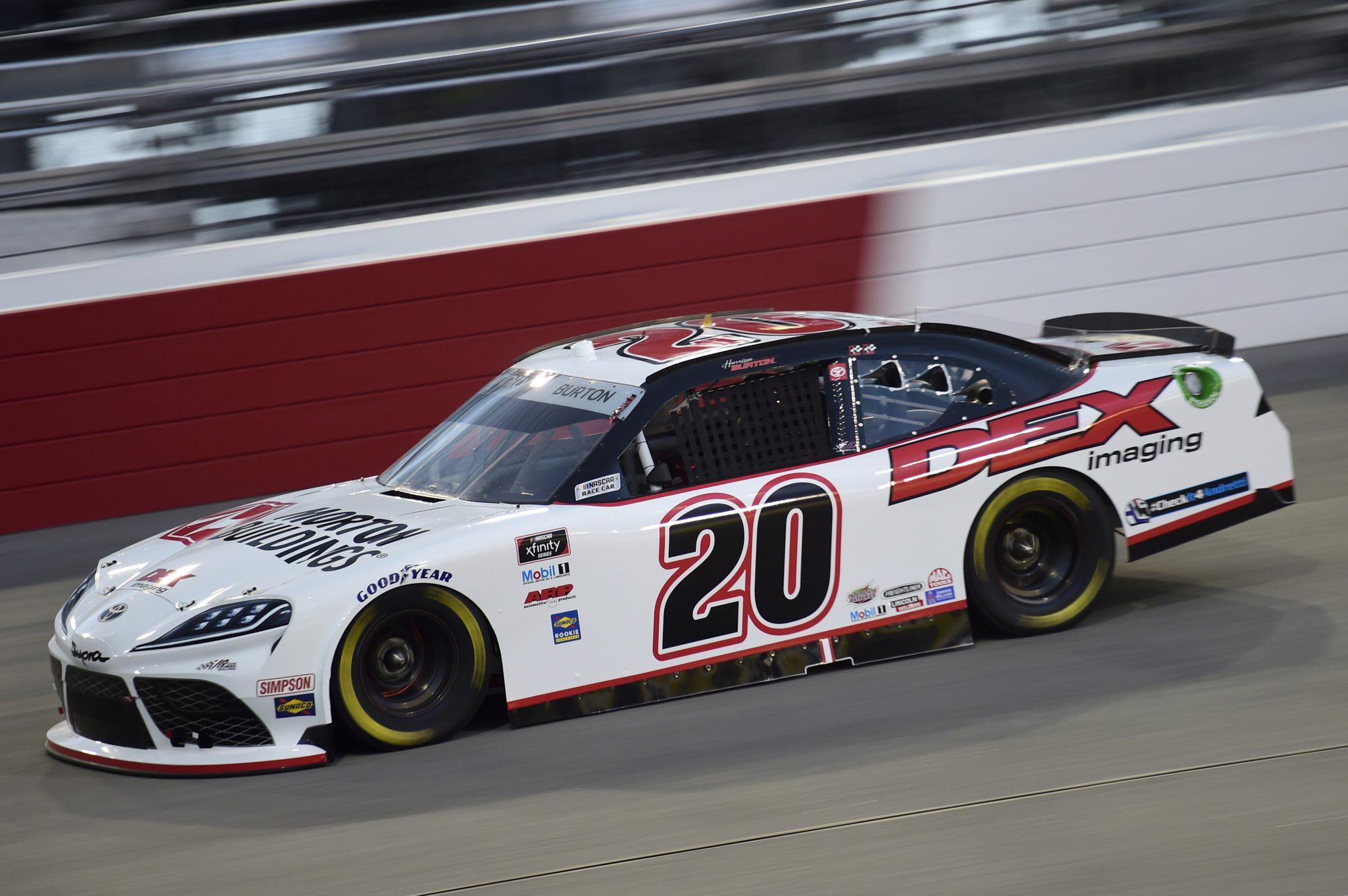 RICHMOND, VIRGINIA - SEPTEMBER 11: Harrison Burton, driver of the #20 DEX Imaging Toyota, drives during the NASCAR Xfinity Series Go Bowling 250 at Richmond Raceway on September 11, 2020 in Richmond, Virginia. (Photo by Jared C. Tilton/Getty Images) | Getty Images