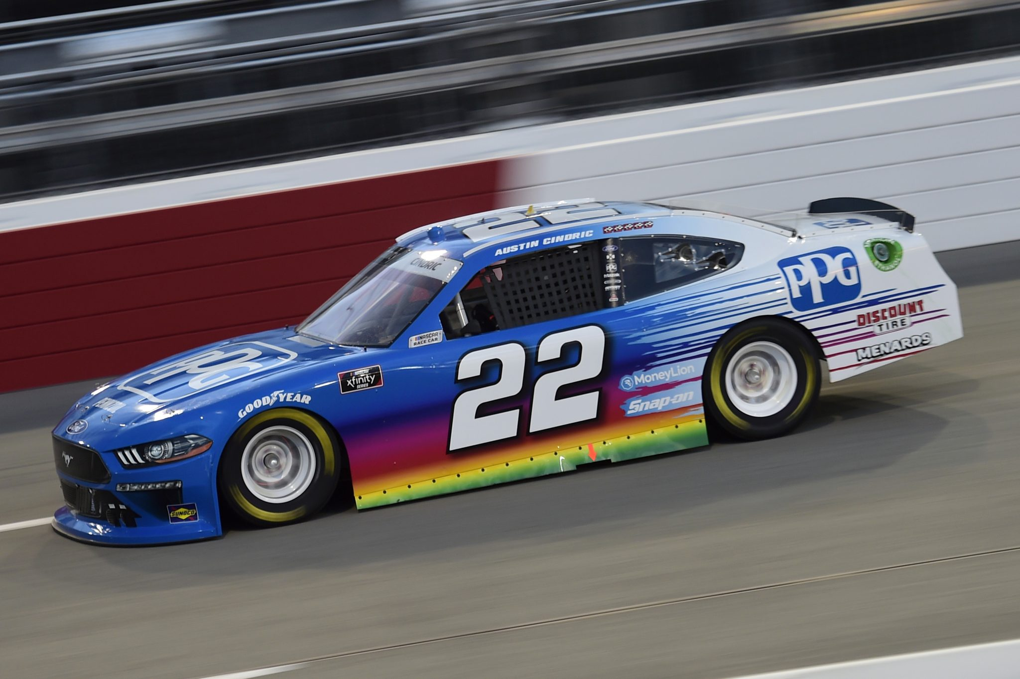 RICHMOND, VIRGINIA - SEPTEMBER 11: Austin Cindric, driver of the #22 MoneyLion Ford, drives during the NASCAR Xfinity Series Go Bowling 250 at Richmond Raceway on September 11, 2020 in Richmond, Virginia. (Photo by Jared C. Tilton/Getty Images) | Getty Images