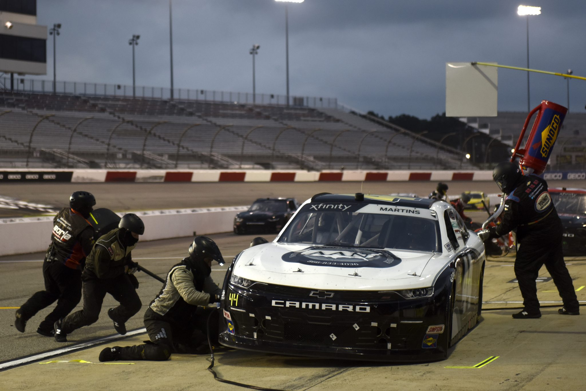 RICHMOND, VIRGINIA - SEPTEMBER 11: Tommy Joe Martins, driver of the #44 Gilreath Farms Red Angus Chevrolet, pits during the NASCAR Xfinity Series Go Bowling 250 at Richmond Raceway on September 11, 2020 in Richmond, Virginia. (Photo by Jared C. Tilton/Getty Images) | Getty Images