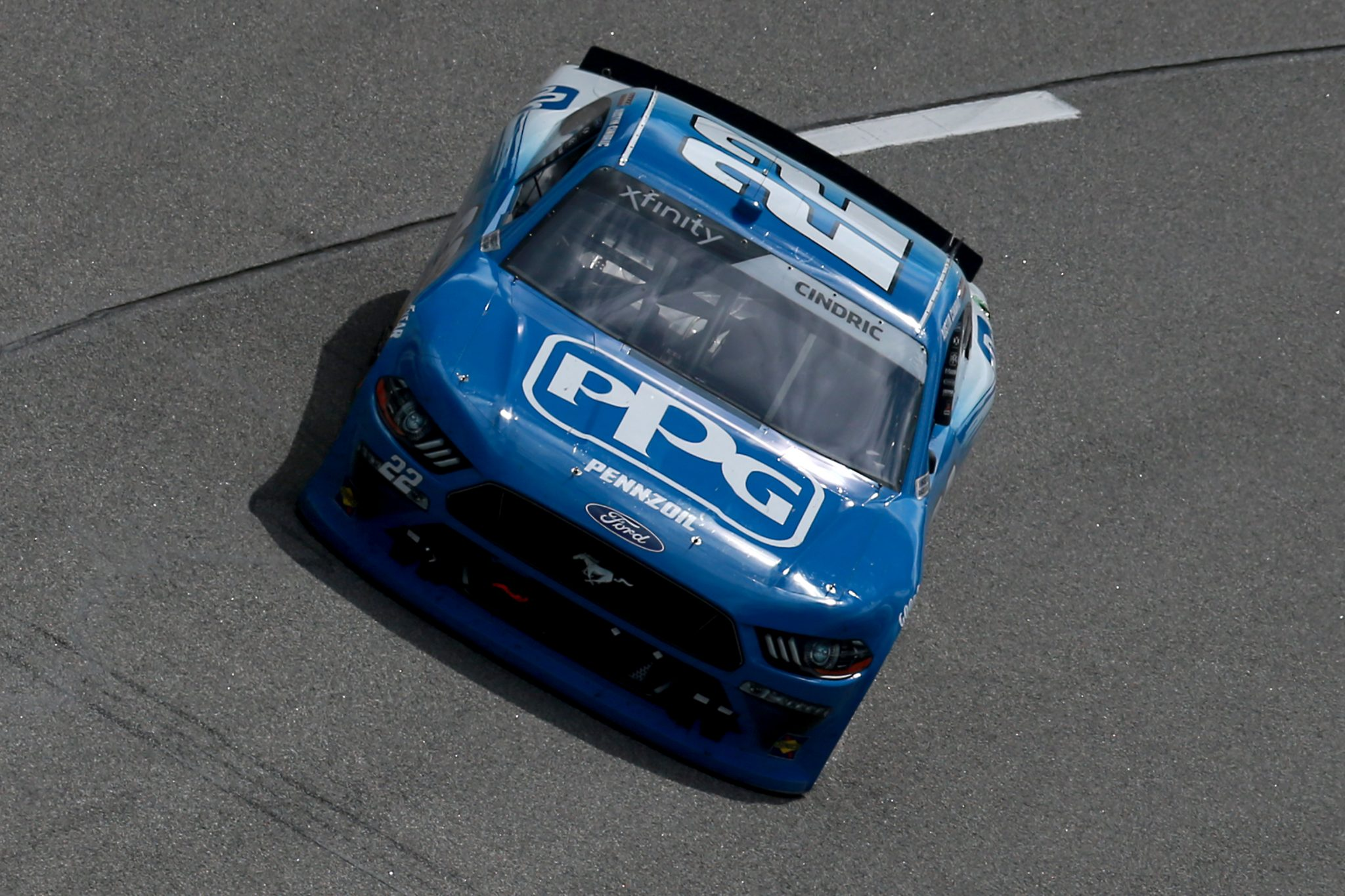 RICHMOND, VIRGINIA - SEPTEMBER 12: Austin Cindric, driver of the #22 PPG Ford, drives during the NASCAR Xfinity Series Virginia is for Racing Lovers 250 at Richmond Raceway on September 12, 2020 in Richmond, Virginia. (Photo by Sean Gardner/Getty Images) | Getty Images