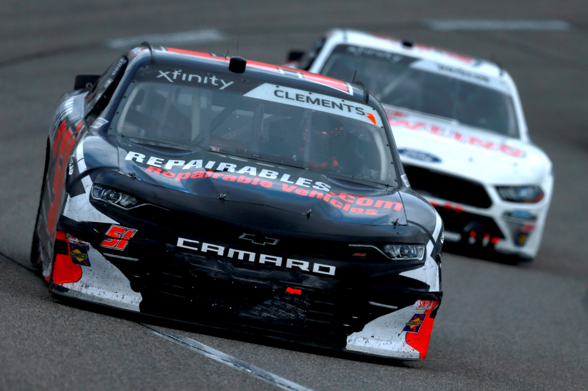 RICHMOND, VIRGINIA - SEPTEMBER 12: Jeremy Clements, driver of the #51 Repairables.com Chevrolet, drives during the NASCAR Xfinity Series Virginia is for Racing Lovers 250 at Richmond Raceway on September 12, 2020 in Richmond, Virginia. (Photo by Sean Gardner/Getty Images) | Getty Images