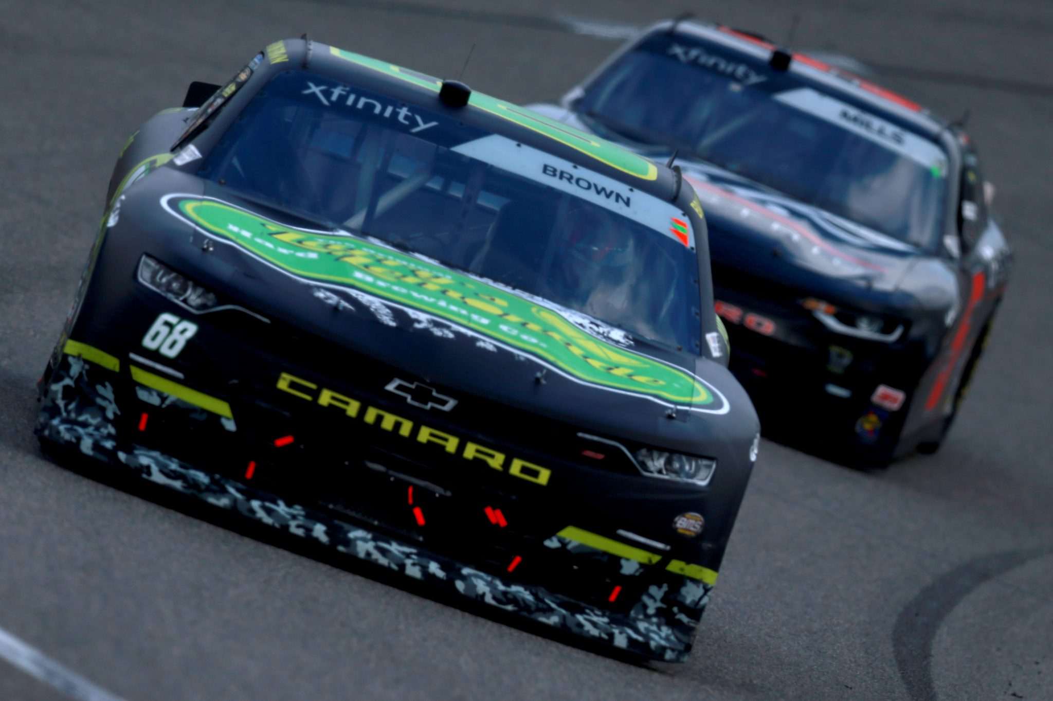 RICHMOND, VIRGINIA - SEPTEMBER 12: Brandon Brown, driver of the #68 Original Larry's Hard Lemonade Chevrolet, drives during the NASCAR Xfinity Series Virginia is for Racing Lovers 250 at Richmond Raceway on September 12, 2020 in Richmond, Virginia. (Photo by Sean Gardner/Getty Images) | Getty Images
