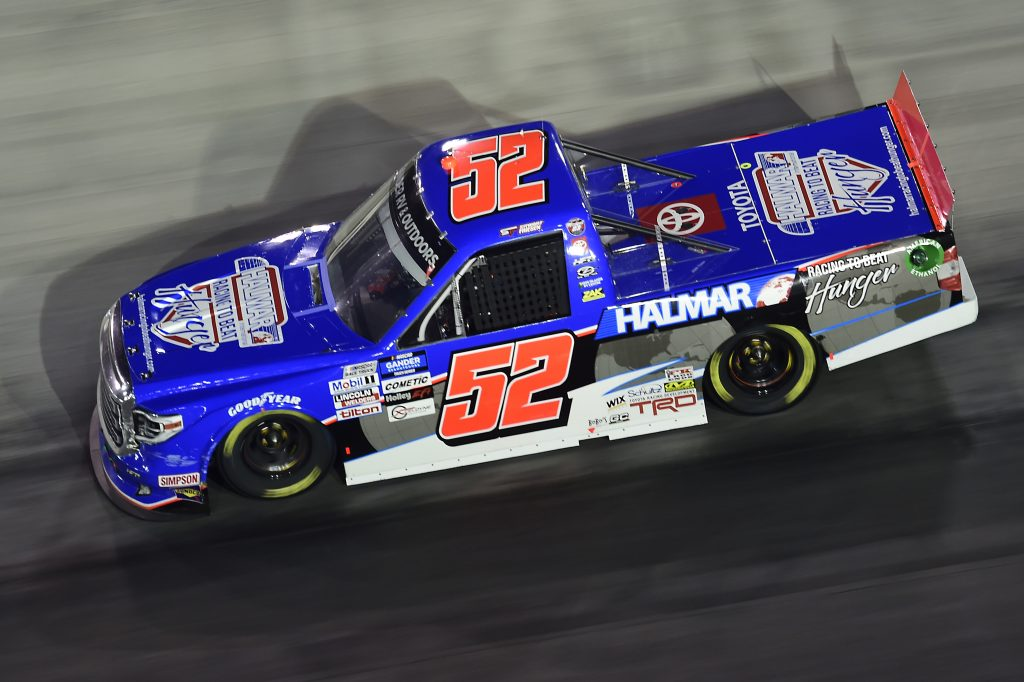 BRISTOL, TENNESSEE - SEPTEMBER 17: Stewart Friesen, driver of the #52 Halmar Racing To Beat Hunger Toyota, drives during the NASCAR Gander RV & Outdoors Truck Series UNOH 200 presented by Ohio Logistics at Bristol Motor Speedway on September 17, 2020 in Bristol, Tennessee. (Photo by Jared C. Tilton/Getty Images) | Getty Images