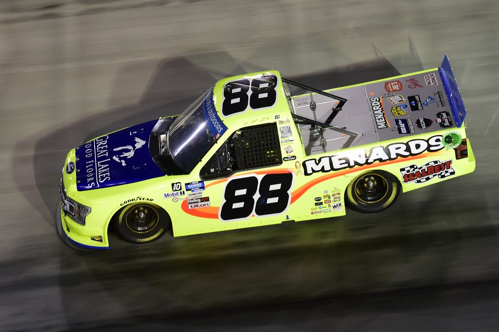 BRISTOL, TENNESSEE - SEPTEMBER 17: Matt Crafton, driver of the #88 Great Lakes Flooring/Menards Ford, drives during the NASCAR Gander RV & Outdoors Truck Series UNOH 200 presented by Ohio Logistics at Bristol Motor Speedway on September 17, 2020 in Bristol, Tennessee. (Photo by Jared C. Tilton/Getty Images) | Getty Images