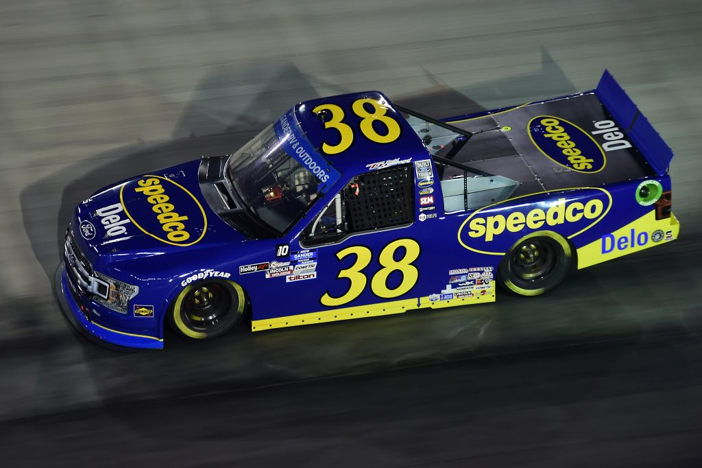 BRISTOL, TENNESSEE - SEPTEMBER 17: Todd Gilliland, driver of the #38 Speedco Ford, drives during the NASCAR Gander RV & Outdoors Truck Series UNOH 200 presented by Ohio Logistics at Bristol Motor Speedway on September 17, 2020 in Bristol, Tennessee. (Photo by Jared C. Tilton/Getty Images) | Getty Images