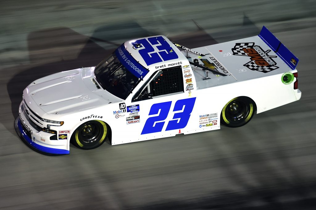 BRISTOL, TENNESSEE - SEPTEMBER 17: Brett Moffitt, driver of the #23 GMS Racing Chevrolet, drives during the NASCAR Gander RV & Outdoors Truck Series UNOH 200 presented by Ohio Logistics at Bristol Motor Speedway on September 17, 2020 in Bristol, Tennessee. (Photo by Jared C. Tilton/Getty Images) | Getty Images
