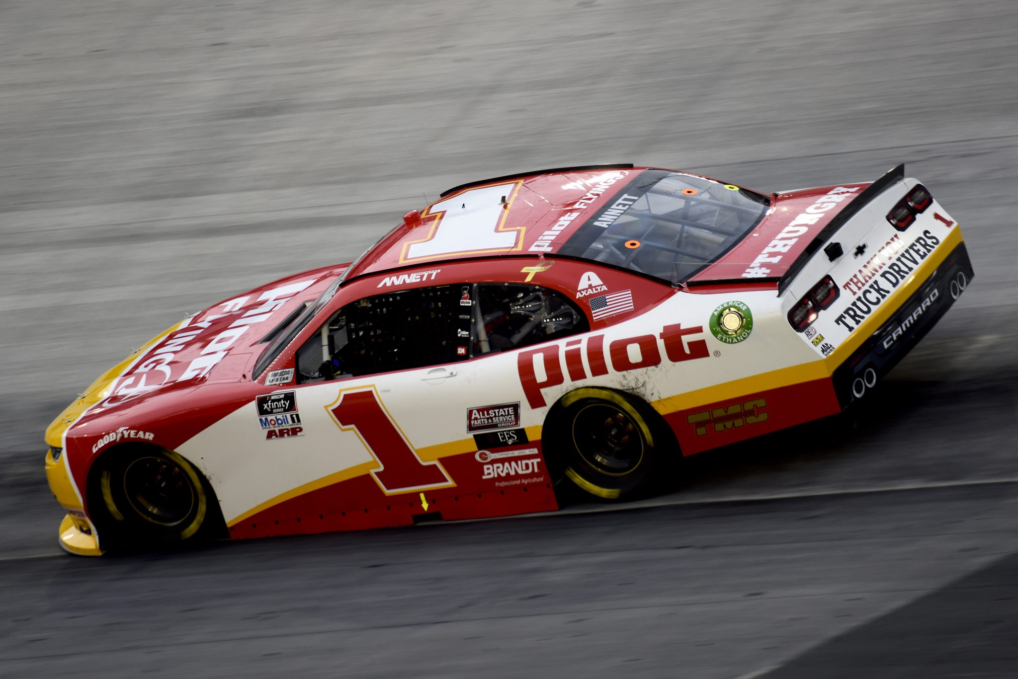 BRISTOL, TENNESSEE - SEPTEMBER 18: Michael Annett, driver of the #1 Pilot Flying J Chevrolet, drives during the NASCAR Xfinity Series Food City 300 at Bristol Motor Speedway on September 18, 2020 in Bristol, Tennessee. (Photo by Jared C. Tilton/Getty Images) | Getty Images
