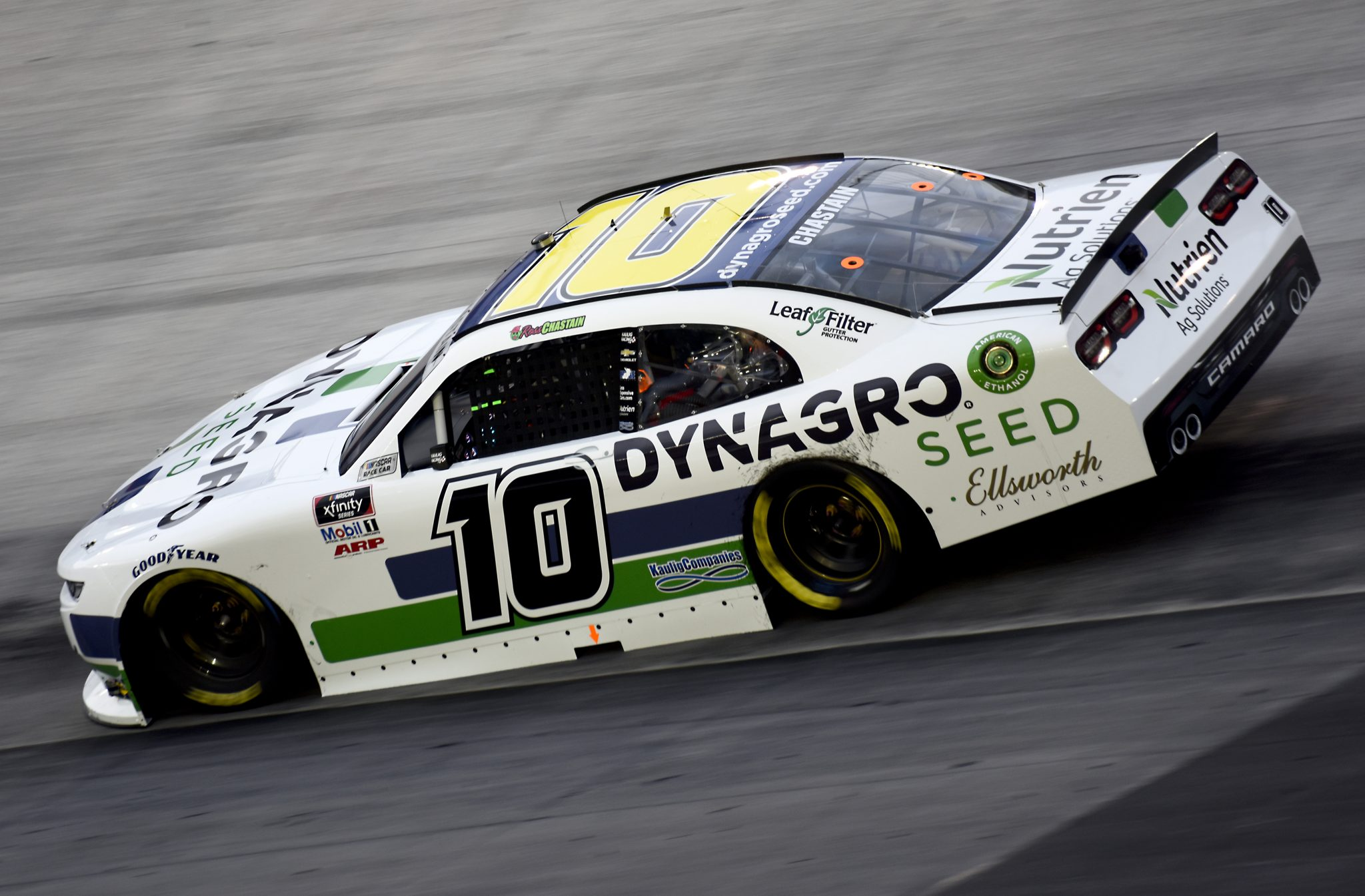 BRISTOL, TENNESSEE - SEPTEMBER 18: Ross Chastain, driver of the #10 Dyna-Gro Seed Chevrolet, drives during the NASCAR Xfinity Series Food City 300 at Bristol Motor Speedway on September 18, 2020 in Bristol, Tennessee. (Photo by Jared C. Tilton/Getty Images) | Getty Images