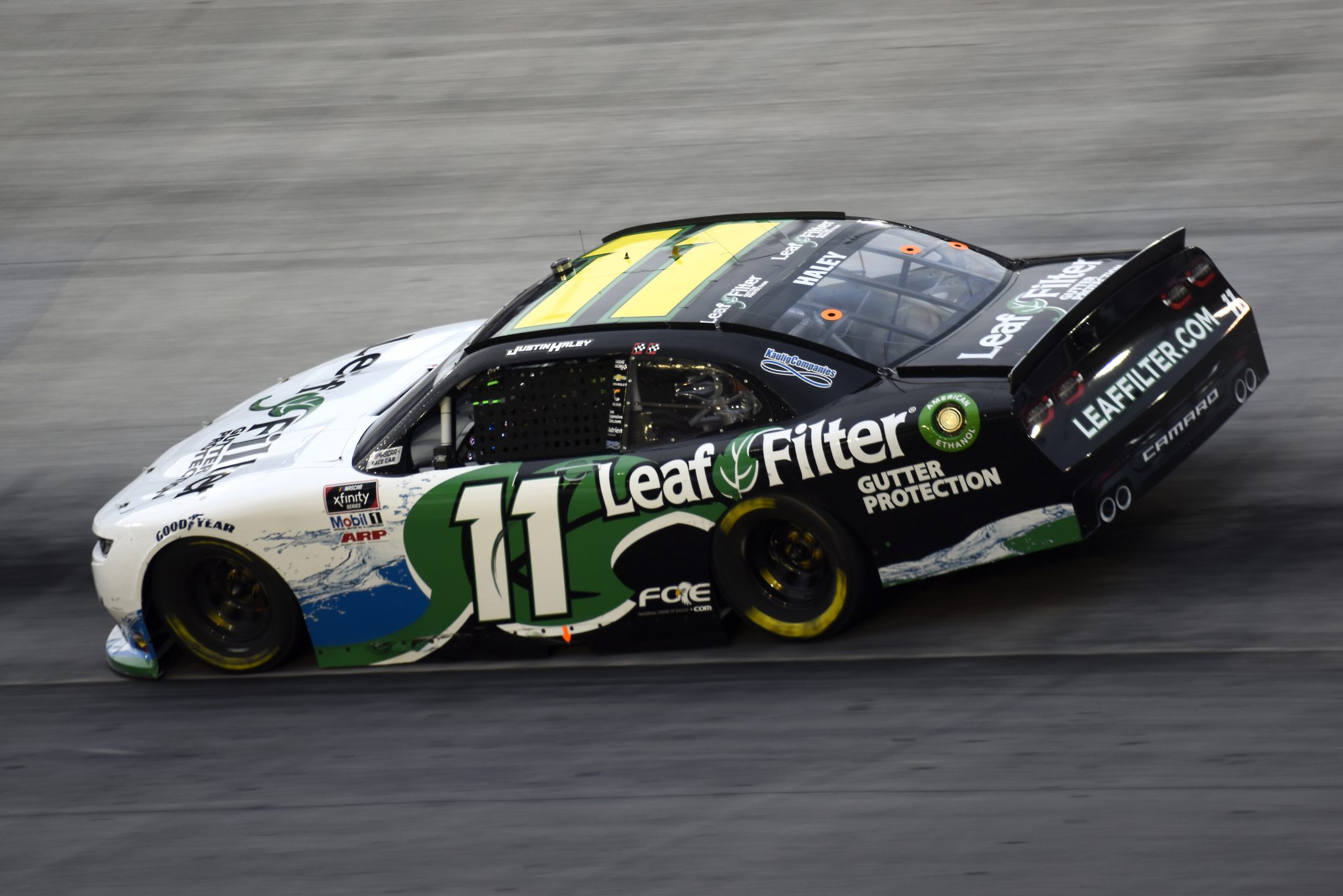 BRISTOL, TENNESSEE - SEPTEMBER 18: Justin Haley, driver of the #11 LeafFilter Gutter Protection Chevrolet, drives during the NASCAR Xfinity Series Food City 300 at Bristol Motor Speedway on September 18, 2020 in Bristol, Tennessee. (Photo by Jared C. Tilton/Getty Images) | Getty Images