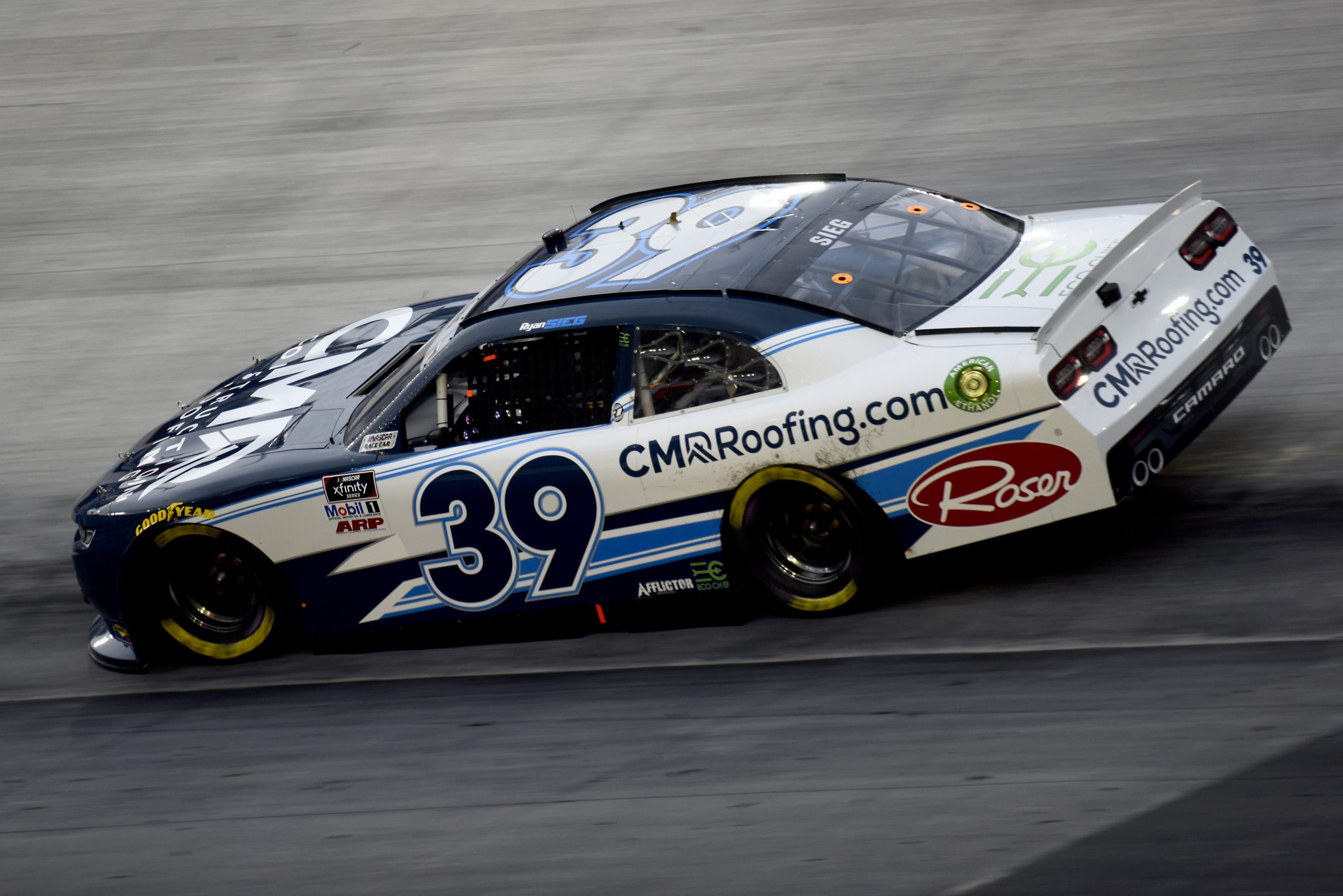BRISTOL, TENNESSEE - SEPTEMBER 18: Ryan Sieg, driver of the #39 CMRRoofing.com Chevrolet, drives during the NASCAR Xfinity Series Food City 300 at Bristol Motor Speedway on September 18, 2020 in Bristol, Tennessee. (Photo by Jared C. Tilton/Getty Images) | Getty Images